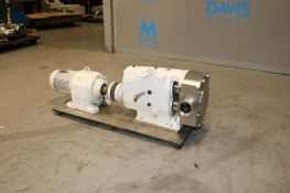 Tri-Clover 5 hp Positive Displacement Pump, M/N TSR6NLD-40MDUC-LAO, S/N 289020-01, with Aprox. 3""