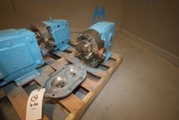 "WCB Positivie Displacement Pump Head, Size 133, S/N SEP 851 SS, with Aprox. 3"" S/S Clamp Type"