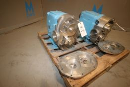 "WCB Positive Displacement Pump Head, M/N 220, S/N 200855 97, with Aprox. 4-1/2"" S/S Clamp Type"