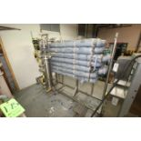 """7-Pass Insulated S/S Pipe System, with S/S Filter, Aprox. 42"""" L x 6"""" Dia., with Ball Valves &"""