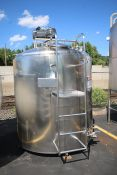 Cherry-Burrell 1,000 Gal. S/S Batch Processor, M/N EPDA, S/N 1000-80-2475, with Top Mounted