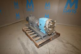 "WCB Aprox. 10 hp Positive Displacement Pump, M/N 220, S/N 1800474 96, with Aprox. 4"" S/S Clamp"