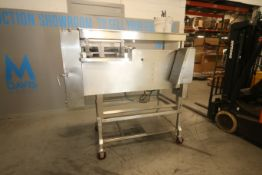Holac S/S Dicer, with S/S Blades Behind S/S Hinge Door, with On Board Hydraulic Pump, Mounted on S/S