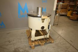 National Equip. Co. Aprox. 40 Gal. Chocolate Tank, S/N 4797, with S/S Hinge Lid, Mounted on Legs (