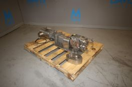 Ampco 3 hp S/S Positive Displacement Pump, M/N ZP1+030-S0, S/N 1934541-5-2, with Baldor 1750 RPM S/S