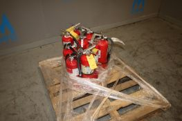 (11) Fire Extinguisher, Assorted Sizes, with Nozzels & Hoses (IN#70535)(LOCATED AT MDG AUCTION