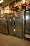 Polar Guest/Glenco Star S/S Refrigerator,M/N PQ-2RGD, S/N NN-424997, with Dual Glass Hinge Doors,