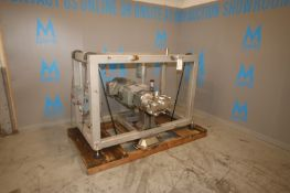 "Waukesha 30 hp Positive Displacement Pump, M/N 220U2, S/N 369823-04, with 4"" Clamp Type S/S Head,"