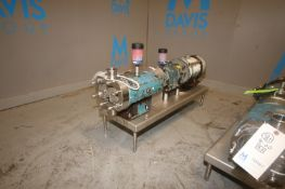 "Tri-Clover 3 hp Positive Displacement Pump, M/N TC1P3NLD, S/N 541552-D1, with Aprox. 2"" Clamp Type"