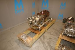 Waukesha Cherry Burrell 20 hp Positive Displacement Pump, M/N 220 U2 2010, S/N 100002501947, with