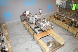 Waukesha Cherry Burrell 10 hp Positive Displacement Pump, M/N 130U2, S/N 439532 03, with Toshiba