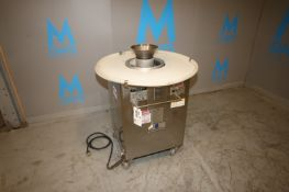 Round O Matic Dough Rounder,M/N R-900T, S/N R3480, 120 Volts, 1 Phase, Mounted on Portable S/S Frame