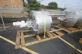 Feldmeier Aprox. 500 Gal. S/S Mix Tank, S/N E-820-00, Dome Top Cone Bottom, with Hinged Lid,
