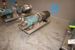 Tri-Clover 5 hp Positive Displacement Pump, M/N TCIP, S/N 541550-01, with Baldor 1750 RPM Motor,