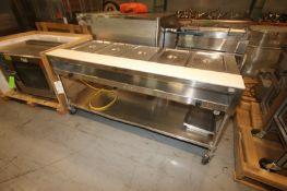 """5-Station S/S Buffet Station,with S/S Botom Shelf, Overall Dims.: Aprox. 76"""" L x 30"""" W x 36"""" H ("""