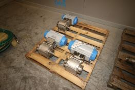 "Jamesbury S/S Pneumatic Ball Valves, Aprox. 4"" Clamp Type Inlet/Outlet (IN#71013)"