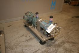 "Tri-Clover 3 hp Positive Displacement Pump, M/N TC1P3NLD, with Aprox. 2"" Clamp Type Head, with"