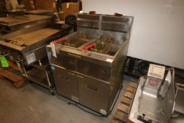 Vulcan Dual Compartment S/S Fryer,with (2) Fryer Baskets, Mounted on Portable Frame (INV#67780)(