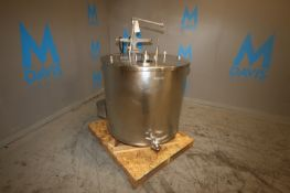 Aprox. 160 Gal. S/S Jacketed Vertical Tank, with Vertical S/S Agitation, Rear Mounted Drive (NOTE: