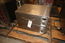 """Wells 2-Door S/S Warmer,Overall Dims.: Aprox. 29"""" L x 21"""" W x 20-1/2"""" H, with Top & Bottom Drawer ("""