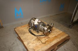 "7.5 hp Centrifugal Pump, with Baldor 1770 RPM Motor, Aprox. 3"" x 2"" S/S Clamp Type S/S Head, 230/460"