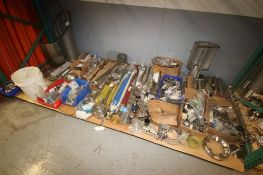 Lot of Assorted S/S Parts & Fittings, Includes S/S Drive Shafts, S/S Fittings, S/S Sprockets, S/S