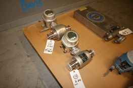 Endress+Hauser S/S Flow Meters, Order Code: 53H50-1098/0 & 53H-1FOB1RBOB2AA, S/N JB06E116000 &