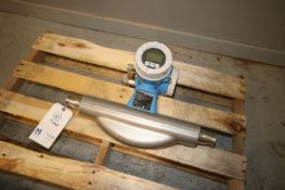 "Endress+Hauser S/S Flow Meter, Order Code: 83F40-AA29/0, S/N F5024716000, with Aprox. 1-1/2"" Clamp"