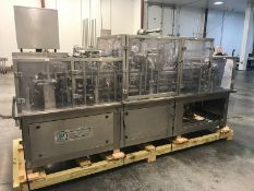 "Pak Line 2-Lane S/S Cup Filler, with S/S Plates with Aprox. 4-1/2"" Dia. Circles,"