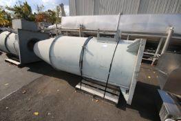 Greenheck Cone Exhaust,M/N VK-H-24-A50-K, Length Aprox. 10' L, Airstream Temp. 70 Degrees (INV#