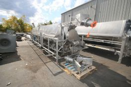 "Lyco S/S Rotary Blancher,Blancher Dims.: Aprox. 24' L x 60"" Dia., with S/S Chute, with Baldor 3 hp"
