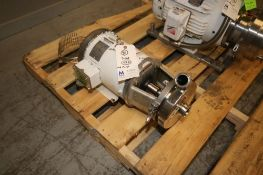 Waukesha Cherry-Burrell 5/3 hp Centrifugal Pump, M/N 0216, S/N 1000002792986, with Leeson 3515/
