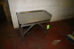 """S/S Table, Overall Dims. Aprox. 47-1/2"""" L x 35"""" W x 29"""" H (Located on 1st Floor--McKees Rocks,"""