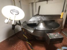 """Schneidmischer S/S Bowl Chopper, M/N 500, Masch. Nr. 17.5/126, with Aprox. 72"""" Dia. S/S Bowl, with"""