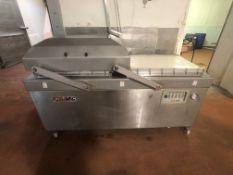 XtraVac Dual Chamber Vacuum Sealer, M/N XTRA VAC780, MFG. No.: 04075143, Sealing Chamber Dims.:
