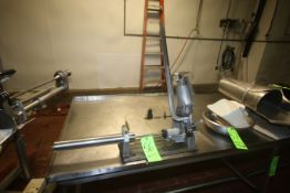 Pneumatic Table-Top S/S Tipper Tie Machine, Mounted on Table-Top Base (Located on 1st Floor--