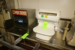 APW Hot Dog Maker, M/N DS-1A, S/N 430030201132, 1 Phase, Includes Scale (NOTE: 2-Pce. Lot--See