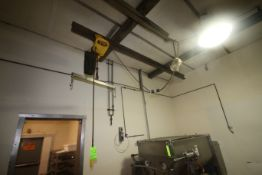 Budgit 1 Ton Electric Hoist, with Cross Beam, with (1) S/S Hook Attachment, with Hand Controller (