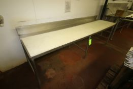 """S/S Cutting Board Top Tables, Overall Dims.: Aprox. 60"""" L x 30"""" W x 40"""" H, with (2) Cutting Board"""