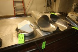 Lot of S/S Stranner, Plastic Scoop, & (2) S/S Chutes (Located on 1st Floor--McKees Rocks, PA) (