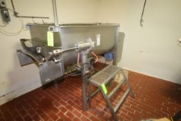 Rietz 1,000 lbs. S/S Dual Ribbon Blender, M/N RS-18-K5405, S/N RS-770256, with (2) Motor Drives,