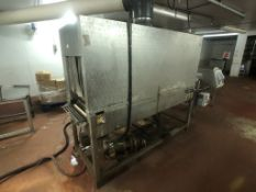 """Cryovac S/S Heat Tunnel, Overall Dims.: Aprox. 72"""" L x 33"""" W x 64"""" W, with 20"""" W x 16"""" H (Located on"""