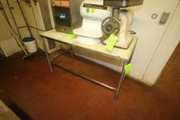 """Cutting Top Table, Overall Dims.: Aprox. 60"""" L x 30"""" W x 34"""" H, Mounted on S/S Frame (Located on 1st"""