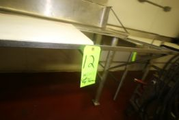 """S/S Cutting & Staging Unit, Overall Dims.: Aprox. 120"""" L x 42"""" W x 55"""" H (NOTE: Missing (1)"""