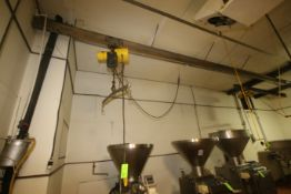 Aprox. 1 Ton Electric Hoist, with Cross Beam, with (1) S/S Hook Attachment, with Hand Controller (