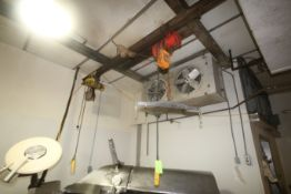 Budgit 1/2 Ton Electric Hoist & 1-Other Electric Hoist with Cross Beam, with (2) S/S Hook