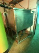 Aprox. 280 Gal. S/S Single Wall Rectangular Tank, Mounted on S/S Legs (Located on 1st Floor--