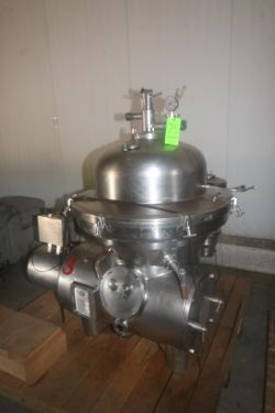 Westfalia S/S Separator, M/N SAMM 15006, S/N 1650 761, Speed of Bowl 4500, with Loher & Sohne 30