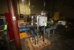 """Stamping Station, with Aprox. 12"""" W Rubber Belt with Drive (LOCATED IN WINNSBORO, TX)"""