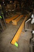 "Harding Systems 2 Ton Capacity Hoist Cross Beam & (2) Uprights, S/N 060531-2, Aprox. 200"" L Cross"